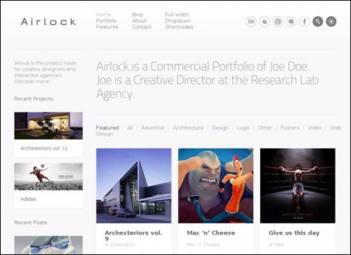 airlock simple wordpress themes