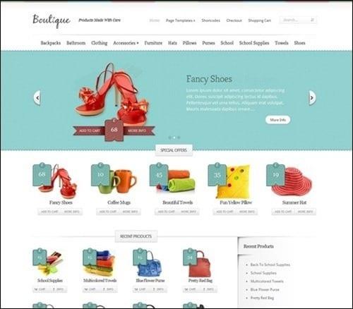boutique WordPress ecommerce themes