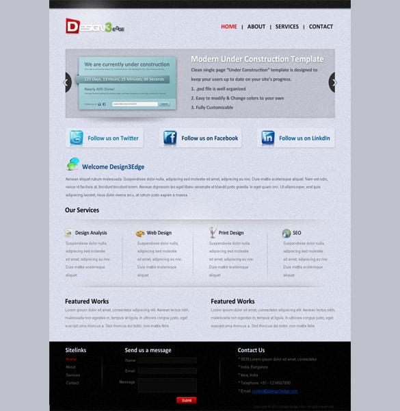 Personal Portfolio Theme PSD Layout