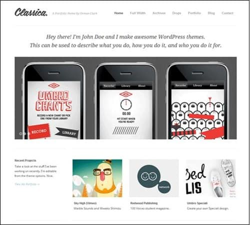 classica simple wordpress themes