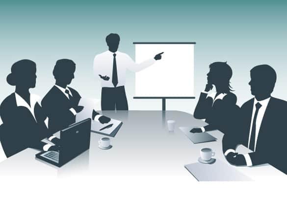 Business Presentation Vector Silhouette