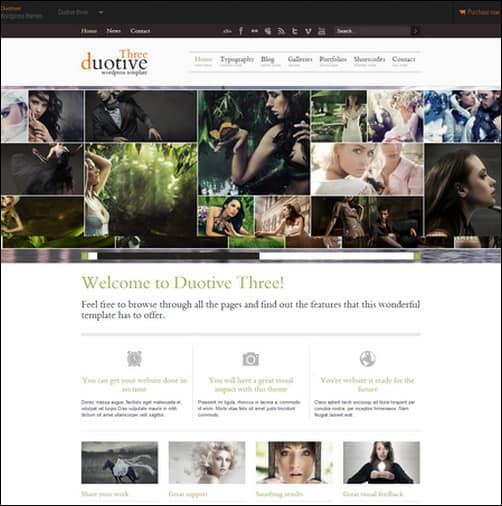 duotive three WordPress Photography Themes