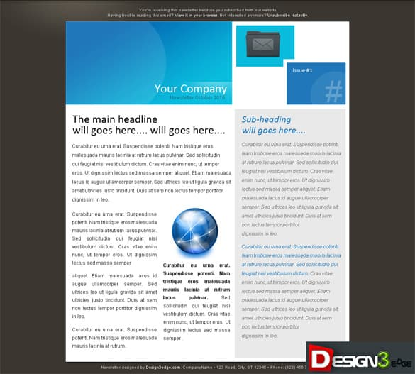 Business Email Newsletter Theme Template