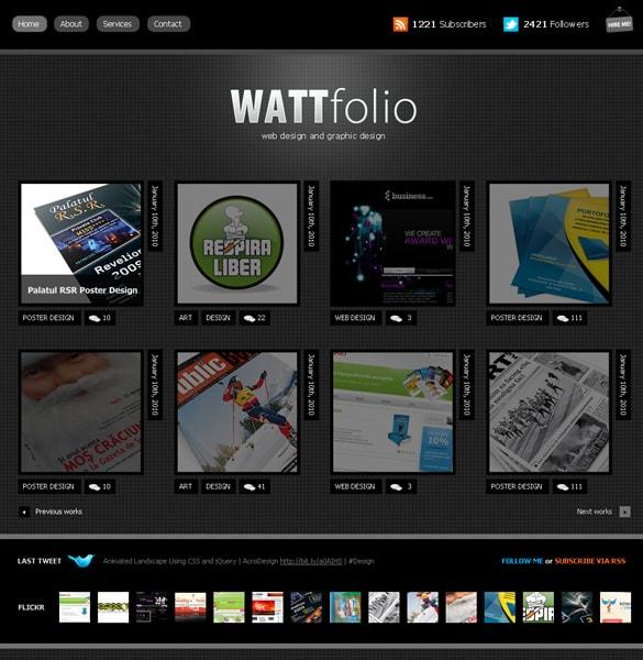 WordPress Personal Portfolio Layout PSD
