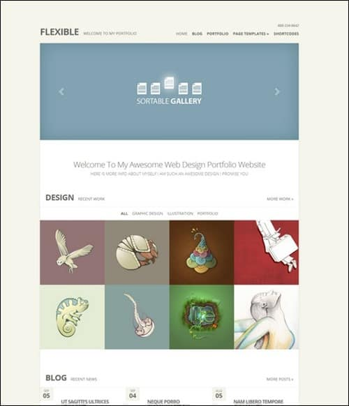 flexible simple wordpress themes