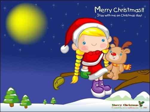 funny-christmas-illustration--christmas-vector-cartoon-wallpaprs-girl-and-reindeer---funny-christmas-vector-cartoon-1600x1200-99966