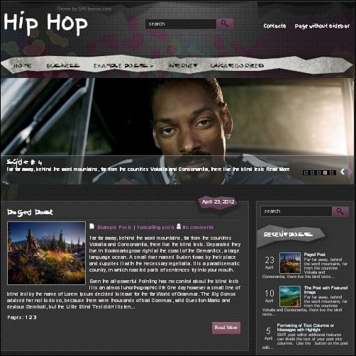 hiphop wordpress music theme