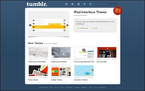 iPad-Interface best tumblr themes