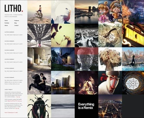 litho WordPress Photography Themes