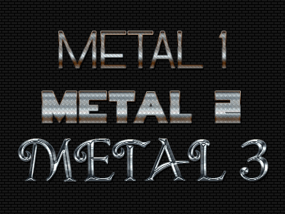 Metal Text Effects