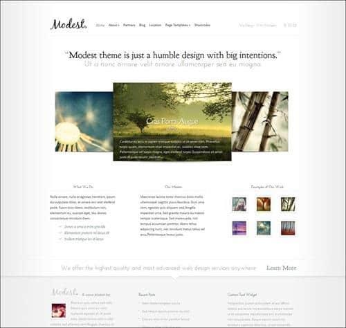 modest WordPress Photography Themes