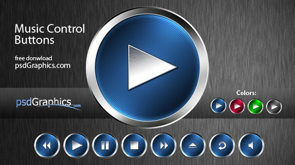 music Control Buttons