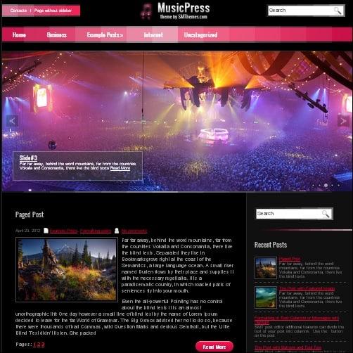 musicpress wordpress music theme