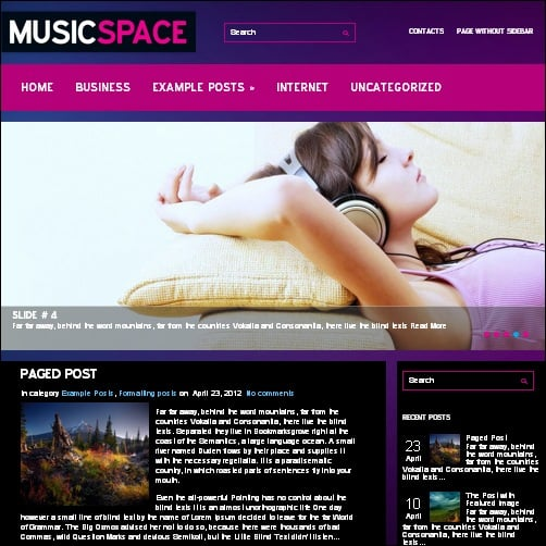 musicspace wordpress music theme