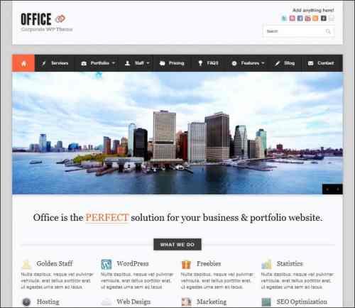 office wordpress business theme