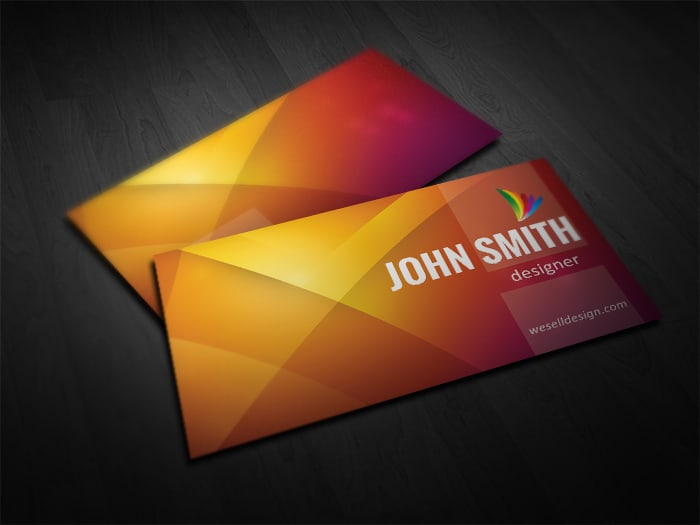 Free Orange Business Card Template