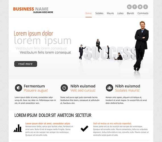 business corporate website template