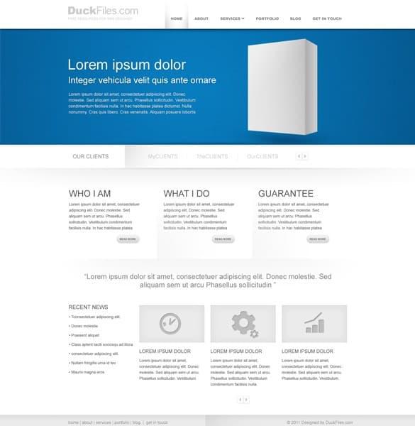 Minimalist Corporate Business Website Templates PSD
