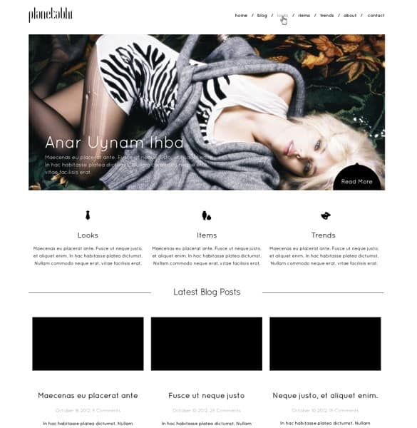 Minimal Homepage Mockup Website PSD