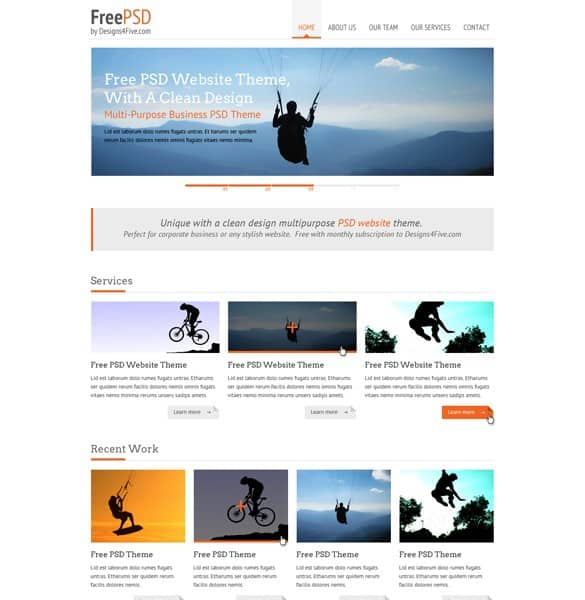 Minimalist Portfolio Website Templates Set