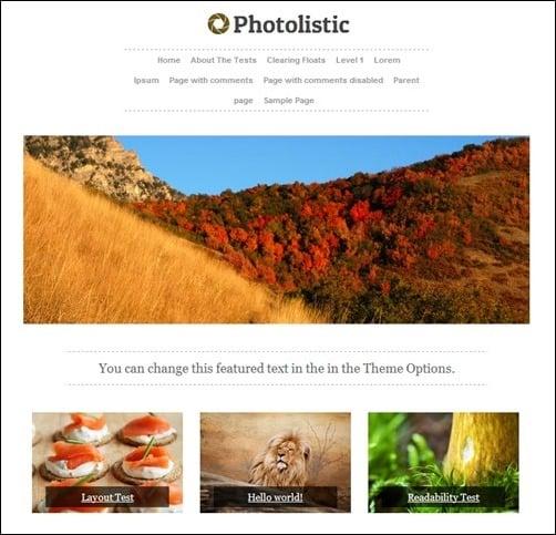 photolistic WordPress Photography Themes