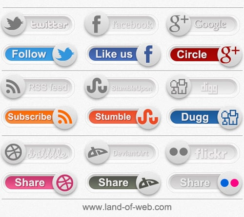 preview - Social Toggles PSD