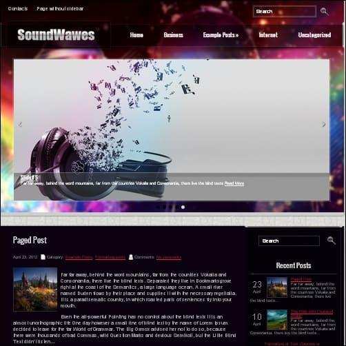 soundwaves wordpress music theme