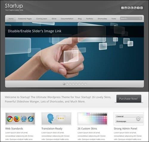 startup WordPress Photography Themes