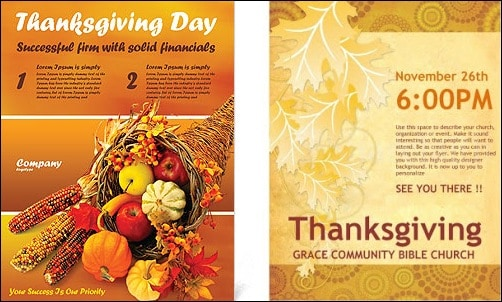 thanksgiving flyer template