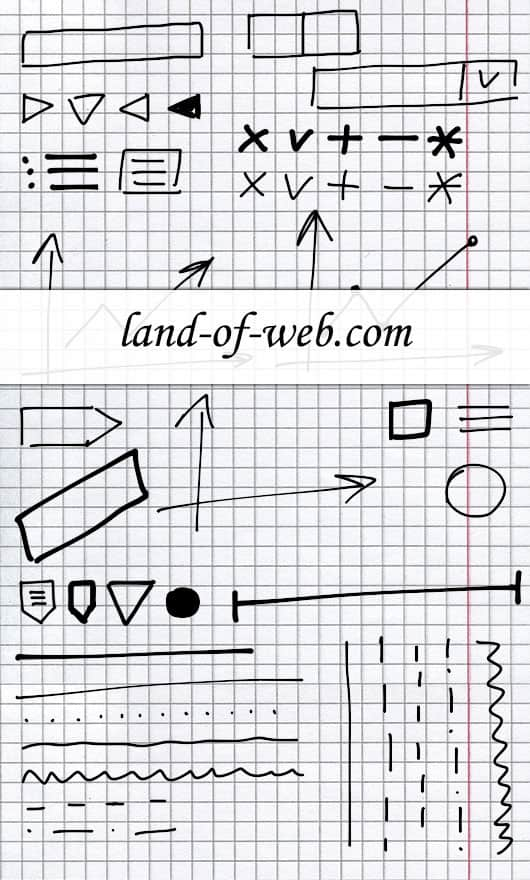 Freebie: Hand-Drawn UI Elements part 1