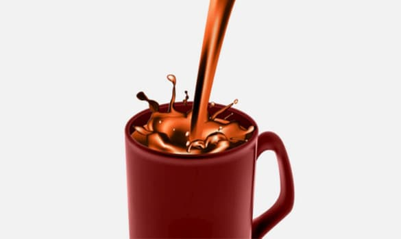 Mocha Coffee Splash Vector