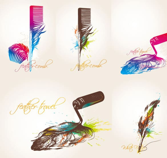 Creative Feather Abstract Vectors