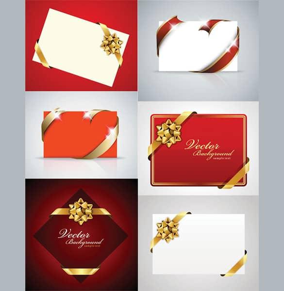 Ribbons & Bows Vector Holiday Cards