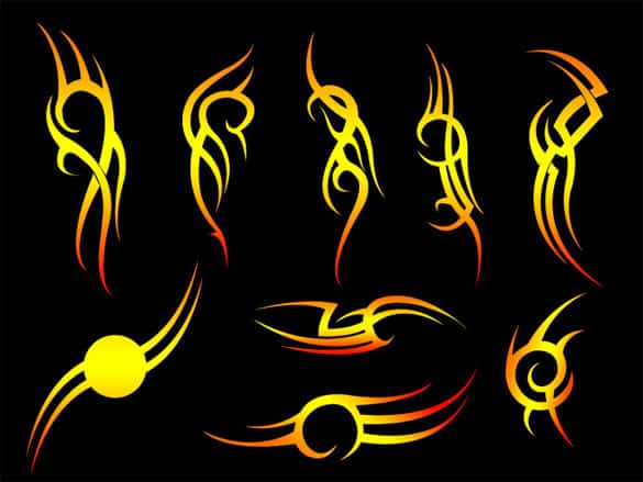 Fiery Tribal Vector Illustrations