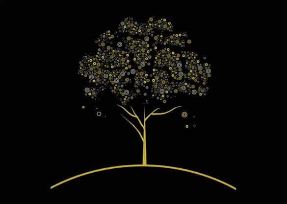 Decorative Abstract Tree Vector Design