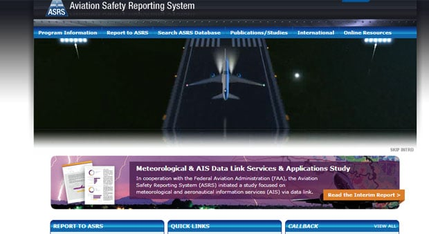 Aviation Safety Reporting System (ASRS)