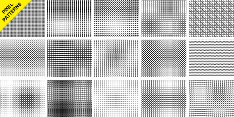 15 Seamless Pixel Patterns
