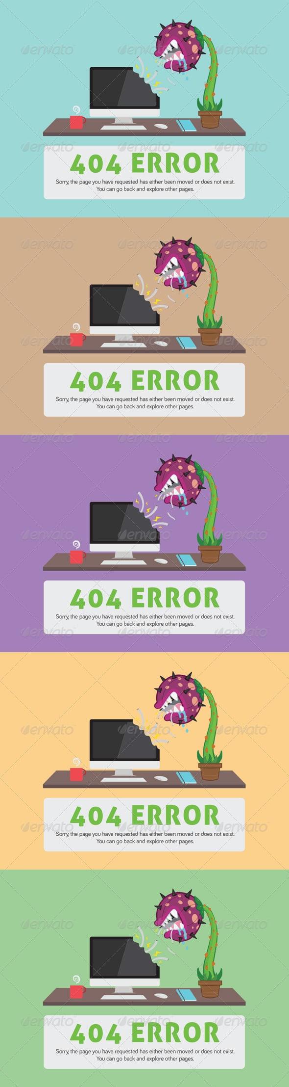 Carnivorous Plant 404 ERROR Web Page