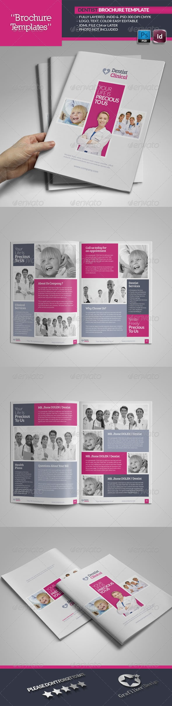 Dentist Brochure Template