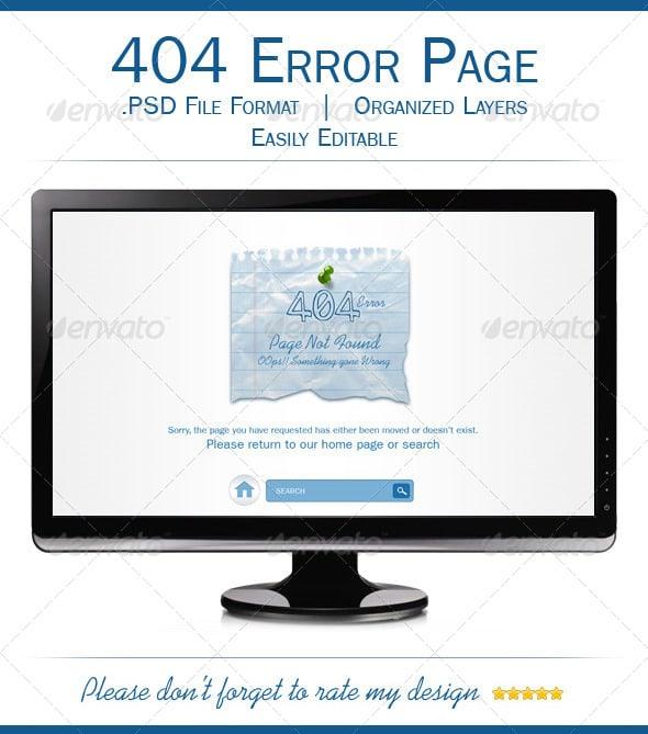 Multipurpose 404 Error Page Template