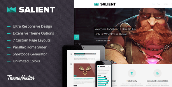 Salient Responsive Portfolio and Blog Theme