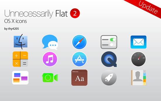 Unnecessarily Flat v2- icon set