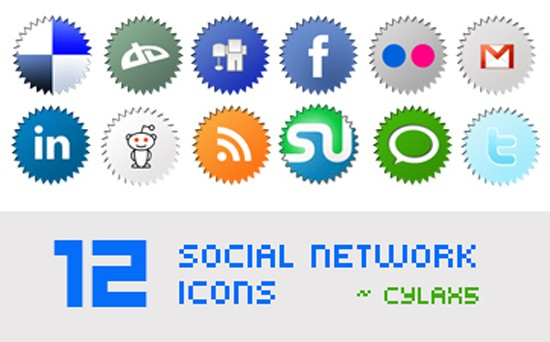 12 Social Network Icons