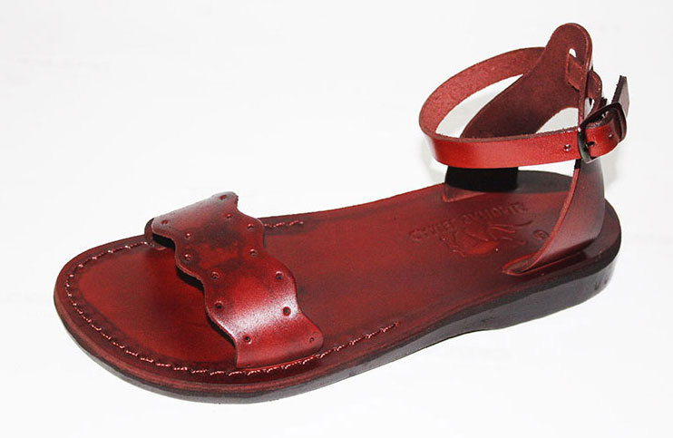 Buy Adjustable Ankle Front Wide Strap Handmade Leather
