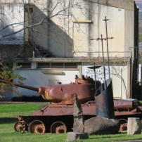 The Syrian tank in Kibbutz Dan