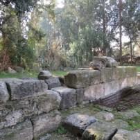 Wall between Rabbi Yehudah HaNasi's house and ancient synagogue