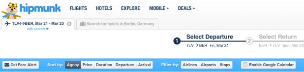 hipmunk cheap flights israel