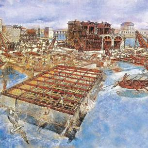 Building the harbor - National Geographic Society