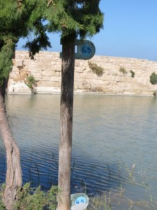 Water lever markers at Nachal Taninim Dam