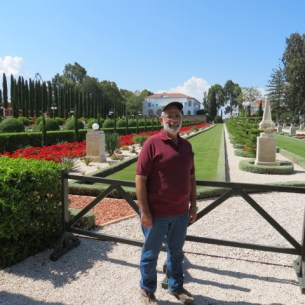 That's me at Bahai Gardens in Acre
